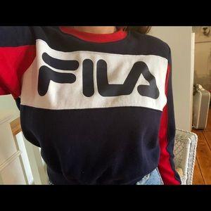 Fila crop top sweatshirt